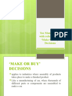 Tax Management and Make _ Buy Decisions