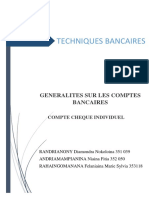 Compte Cheque Individuel