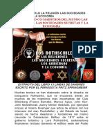 LOS ROTHSCHILD LA RELIGIÓN LAS SOCIEDADES SECRETAS Y LA ECONOMÍA
