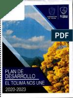 Ordenanza 006 de 2020 Plan de Desarrollo El Tolima Nos Une 2020 2023