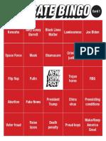 VP debate bingo cards 2020