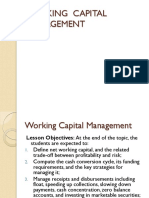 Working Capital and Cash Management
