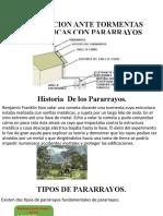 PROTECCION ANTE TORMENTAS ELECTRICAS CON PARARRAYOS