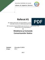 Modelarea si Comanda Convertoarelor Statice - simulare PSIM