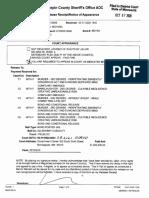 Notice of Release for Derek Chauvin