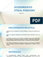 PROCEDIMIENTO REGISTRAL PERUANO