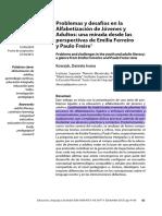 Alfabetización de jóvenes y adultos desde las perspectivas de E. Ferreiro y P. Freire