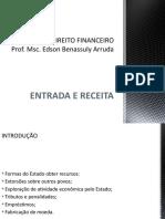 CURSO DE DIREITO FINANCEIRO - ENTRADA E RECEITA