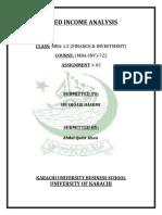 Abdul Qadir Khan (Fixed Income Assignement no.5)