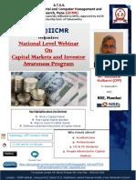 National Webinar on Capital Market and Investor Awareness - FLYER