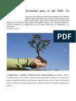 Detener la deforestación para el año 2020