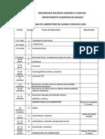 CRONOGRAMA DE PRACTICAS DE LABORATORIO 2020-I (Final)