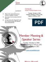 WCAS Member Mtg and Speaker Program Slides October 6, 2020