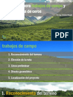 TRABAJOS DE CAMPO Y DISEÑA TU LINEA DE CEROS