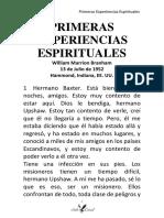 52-0713A PRIMERAS EXPERIENCIAS ESPIRITUALES HUB