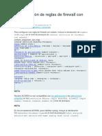 Configuración de reglas de firewall endurecimiento de red
