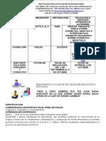Guía No.5 de Inglés  6 Grado A, B y C