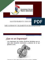 UNIDAD 3 MECANISMOS Y ELEMENTOS DE MAQUINAS ENGRANES