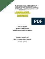 Informe Final de Obra - Tenjo