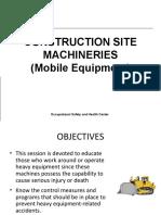 D2.1-Construction Site Machineries (mobile quipment)