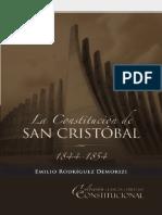 Emilio Rodríguez Demorizzi- La Constitución de San Cristobal 1844-1854