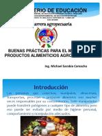 BUENAS PRÁCTICAS PARA EL MANEJO DE PRODUCTOS ALIMENTICIOS AGROPECUARIOS