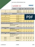 20 Solar Energy - Precio de Listas - 2020-PL-0602- Electrodomesticos - Myratec