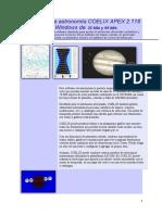 El software de astronomía COELIX APEX 2