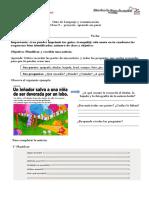 Guía de apoyo Clase9. proyecto aprendo sin parar. Leco 3° Básico