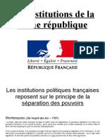 institutions politiques francaises