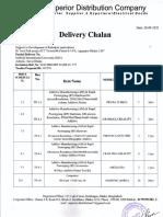 delevery Chalan DIU