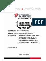 PROYECTO PANADERIA (INV. DE OPERACIONES)