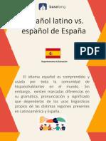 Español de España vs. español latino