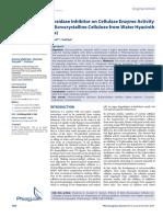 Effects of Beta Glucosidase Inhibitor on Cellulase Enzyme Activity