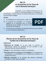 NIC 21 Efectos de las Variaciones.....