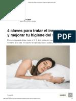 4 claves para tratar el insomnio y mejorar tu higiene del sueño