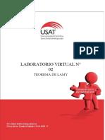 Laboratorio Virtual N° 02. Teorema de Lamy. Física de los Cuerpos Rígidos. Ciclo 2020 - II