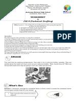 Worksheet in TLE 8