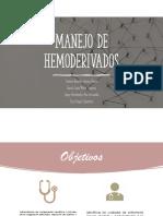 manejo de hemoderivados lab