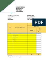 Form Rekap Penugasan Pencatatan dan Pelaporan Imunisasi Covid19