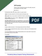 Excel - Vlookup