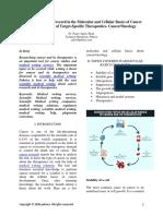 Dissertation Topics on Cellular Basics of Cancer and Therapeutics - Pubrica
