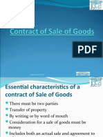 Contract of Sales of Goods Act