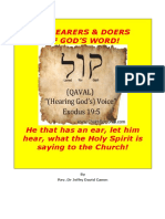 Be Hearers & Doers of God's Word