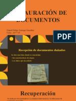 RESTAURACIÓN DE DOCUMENTOS