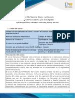 Syllabus del curso Estructura Molecular