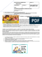 GUIA 2 LA FAMILIA Y LA IGLESIA NACEN Y SE CONSTRUYEN EN CRISTO SEPTIMO