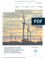 Definition and history of sustainable development