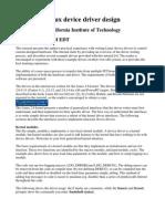 Linux device driver design