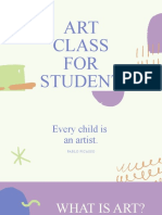 Arts Class for Students